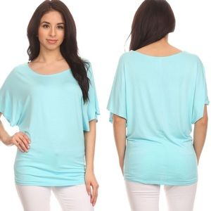 Tops - Paradise Blue Dolman Top | Made in USA